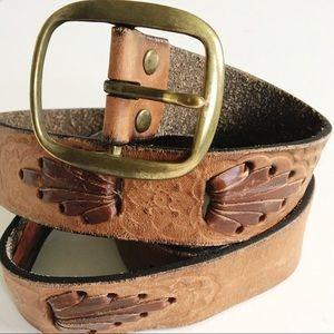Vintage Soft Leather Well Worn Belt